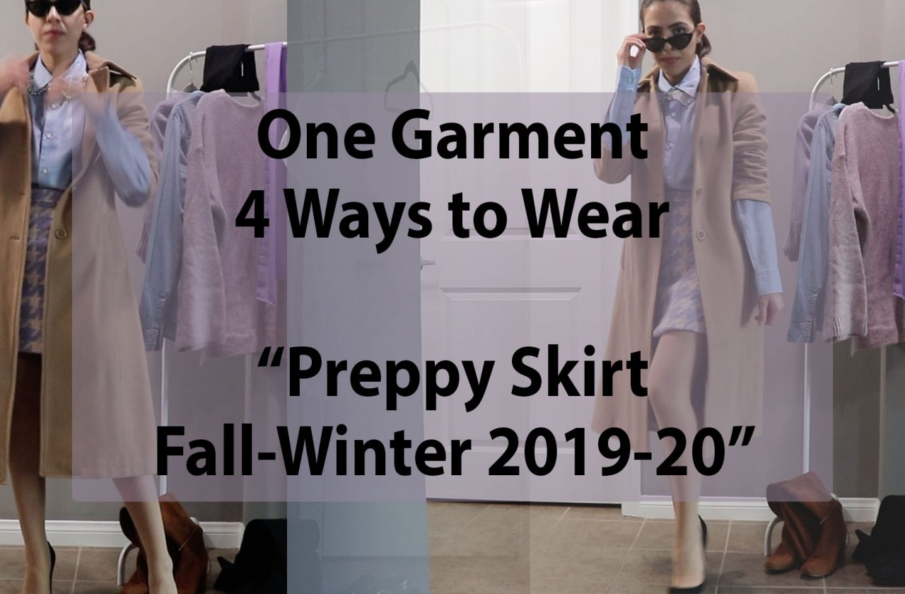 Video of a girl styling ways to wear a preppy skirt fall winter 2019 2020