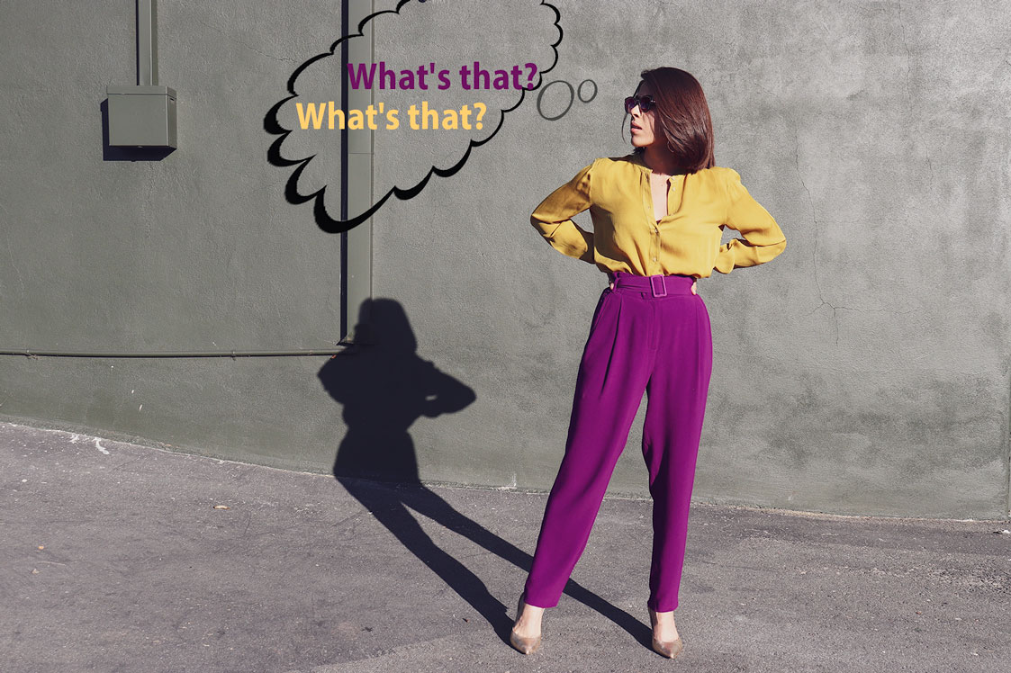 Girl asking about something